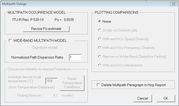 evaluate multipath outage
